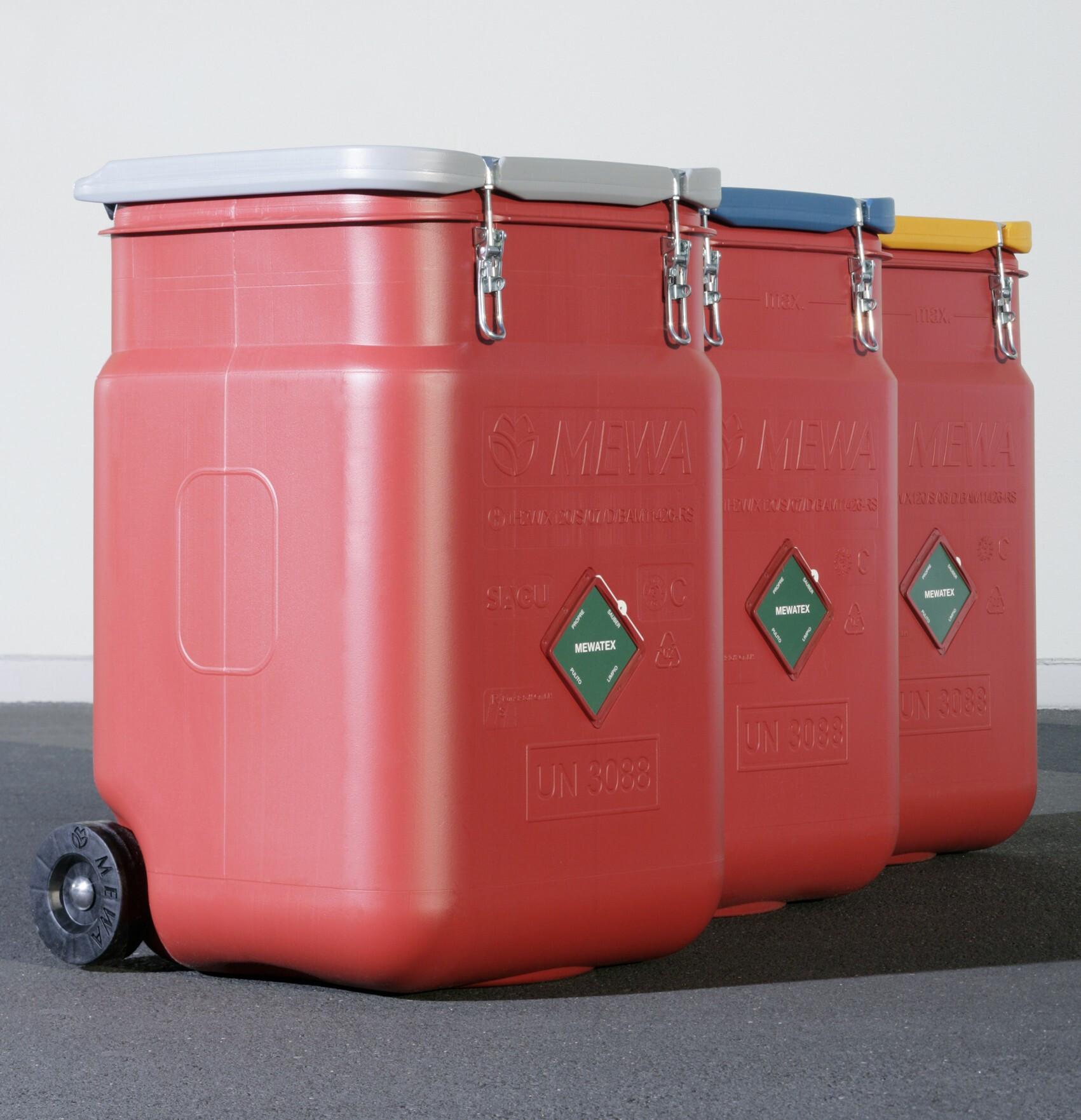 As rodas permitem movimentar o SaCon facilmente na fábrica ou na oficina para onde for necessário. (foto MEWA)