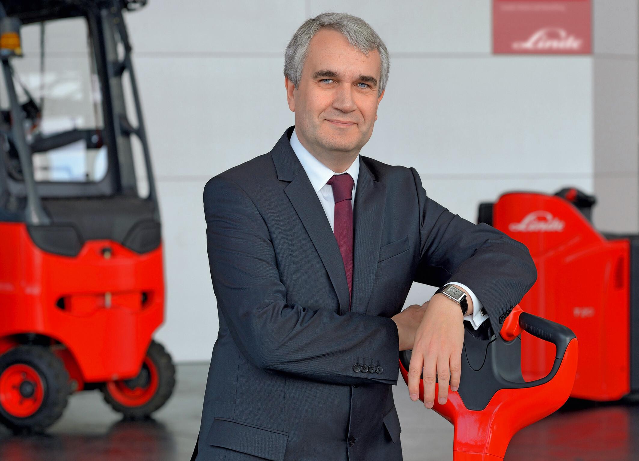 Christophe Lautray, presidente da Federação Europeia de Equipamentos de Gestão de Materiais e de Armazenamento (FEM) e membro da administração (CSO) da Linde
