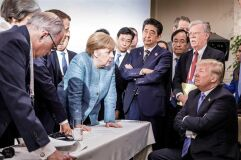 A fotografia do G7 que está a correr o mundo sob várias perspetivas-image
