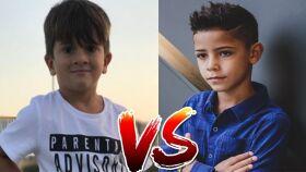 Filho de Cristiano Ronaldo Vs Filho de Lionel Messi-image
