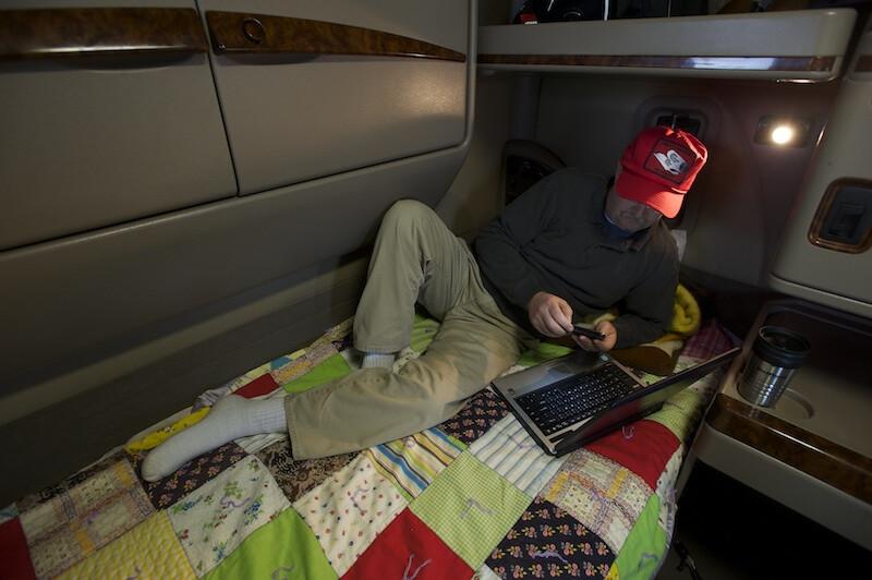 Descanso na cabine