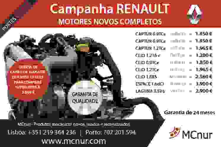 Motores novos completos RENAULT_MCnur_Março 2018