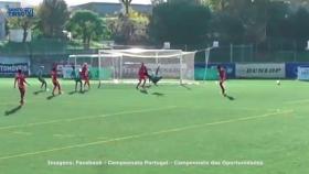 Jogador do São Martinho marca golo incrível-image